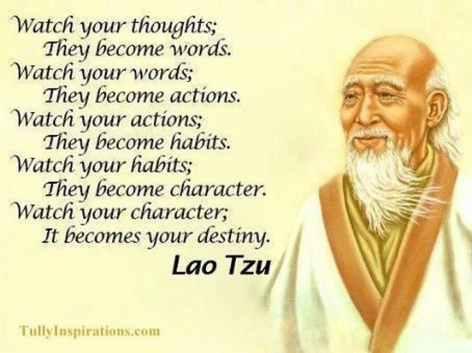 Lao Tzu Quote What You Think You Become Gurlys Collection Of